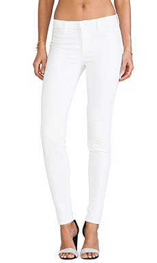 J Brand Colette Moto in Quilted White