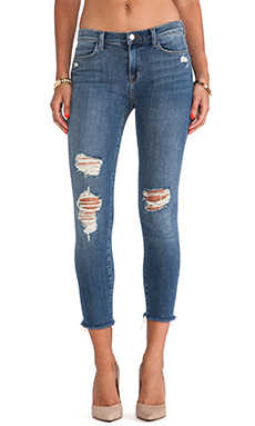 J Brand Cropped Mid Rise Skinny in Fury