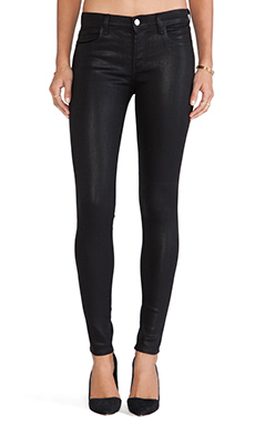 J Brand Coated Midrise Skinny in Fearless