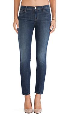 J Brand Midrise Skinny Jean in Storm