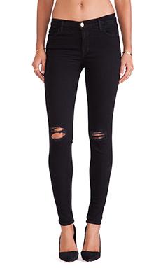 J Brand Super Skinny Jean in Blackout