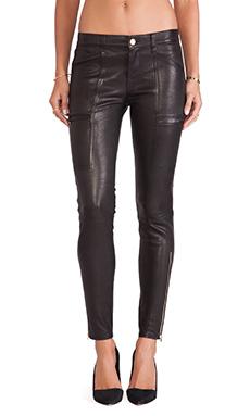 J Brand Cassidy Leather Jean in Noir