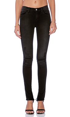 J Brand Mid Rise Rail Skinny in Break Up