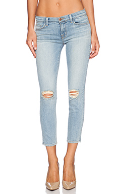J Brand Mid Rise Crop in Drop out