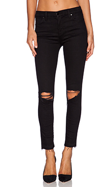J Brand High Rise Alana Crop in Off Beat