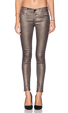 J Brand Mid Rise Super Skinny in Gold Dust