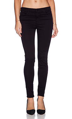 J Brand Zip Hem Crop in Black
