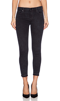 J Brand Mid Rise Crop in Black Noise