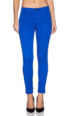 J Brand Zip Hem Crop in Electric Blue