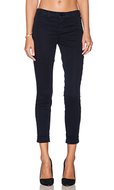 J Brand Anja Cuffed Crop in Blue Velvet