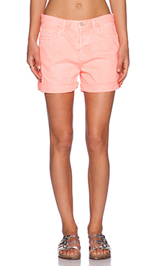 J Brand Kennedy Boyfriend Short in Flamingo