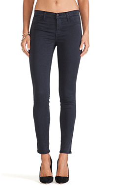 J Brand Luxe Satin Pant in Grey