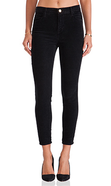 J Brand Alana Pant in Darkest Grey