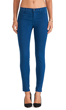 J Brand Lux Satin Pant in Libertine Blue