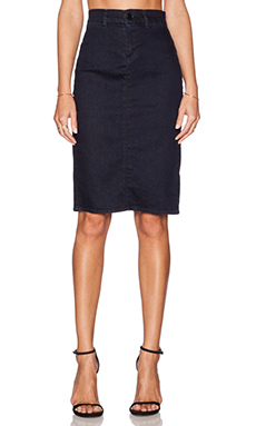 J Brand Willa High Rise Tailored Skirt in Inkwell