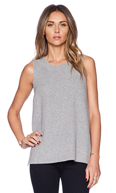 J Brand Flo Sweater Tank in Medium Grey Heather