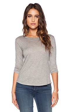 J Brand Eniko Tee in Heather Grey