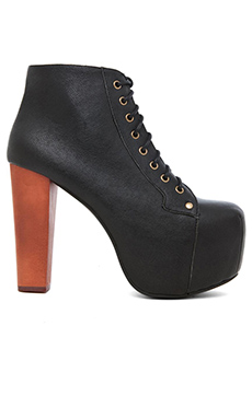Jeffrey Campbell Lita Platform Lace Up Boot in Black