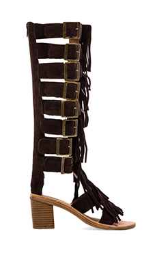 Jeffrey Campbell Hendrix Strappy Sandal in Brown