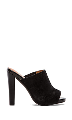 Jeffrey Campbell Curie Heel with Calf Fur in Black Hair