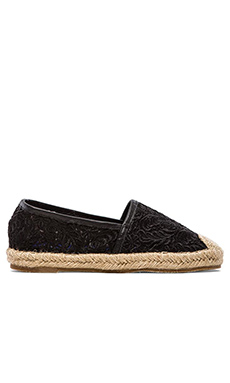 Jeffrey Campbell Nia Flat in Black Lace