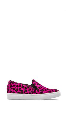 Jeffrey Campbell Alva Sneaker with Calf Fur in Red Cheetah