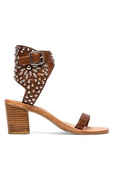 Jeffrey Campbell Des Moines Sandal in Tan & Silver