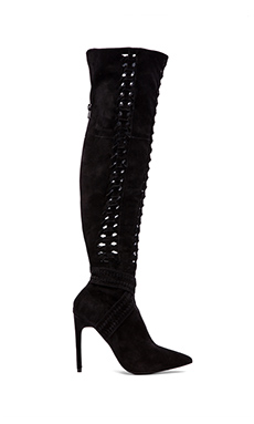 Jeffrey Campbell Galon Over the Knee Boot in Black Suede