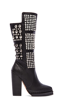 Jeffrey Campbell Heeled Boot in Black Combo