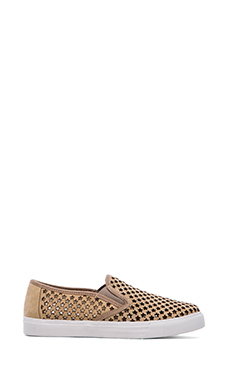 Jeffrey Campbell Ray Stay Sneaker in Nude Star Nubuck White