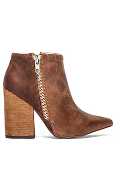 Jeffrey Campbell Truly Zip Bootie in Nude Brown