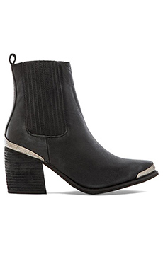Jeffrey Campbell Bentley Booties in Black Distress Silver