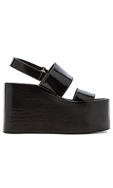 Jeffrey Campbell Carnie Wedge Sandal in Black Box