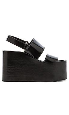 Jeffrey Campbell Carnie Wedge Sandal in Black Box