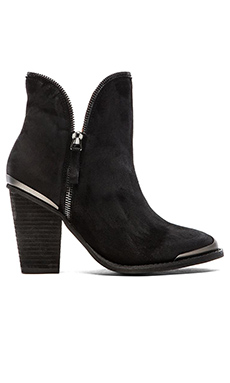 Jeffrey Campbell Sheraton Bootie in Black Suede