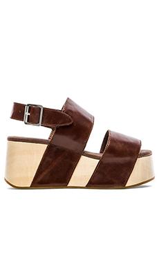 Jeffrey Campbell Atado Platform Heels in Brown