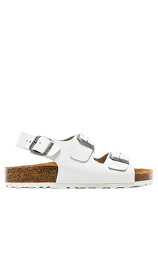 Jeffrey Campbell Milos Birkenstock in White