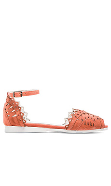 Jeffrey Campbell Picado Flat in Coral Suede