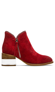 Jeffrey Campbell Crocket Bootie in Red Suede
