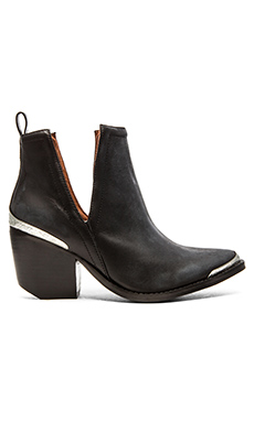 Jeffrey Campbell Cromwell Bootie In Black Distressed