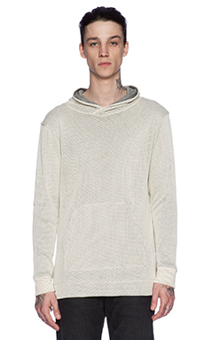 John Elliott + Co Hooded Mesh Pullover in Sand