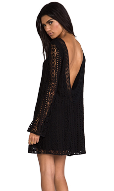 Jen's Pirate Booty Sandalwood Tunic Dress in Black