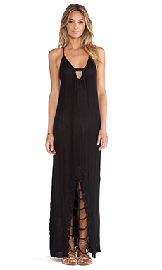 Jen's Pirate Booty Venetian Maxi Dress in Black