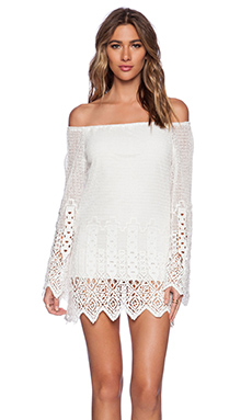 Jen's Pirate Booty Celebration Mini Dress in White Out