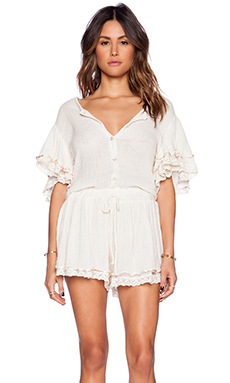 Jen's Pirate Booty Aegean Romper in Natural