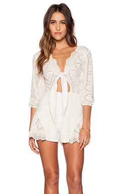 Jen's Pirate Booty x REVOLVE Clementine Romper in Ivory