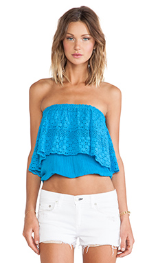 Jen's Pirate Booty Jamaican Tube Top in Turquoise