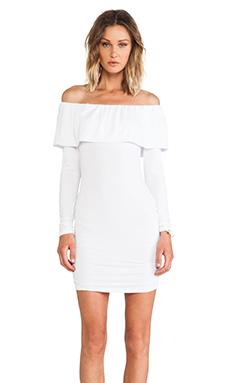 James & Joy Donna Rollover Dress in White