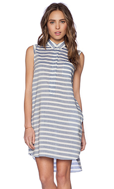 Jenni Kayne A Line Shift Dress in Blue & White