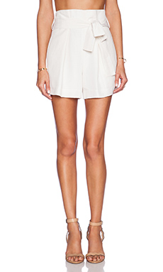 Jenni Kayne Paper Bag Shorts in White